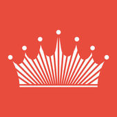 Plochý design ikony koruny — Stock fotografie