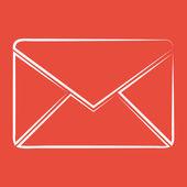 Envelope icon design — Stock Photo