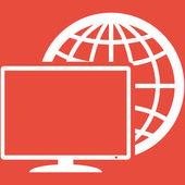 Monitor icon design — Stock Photo