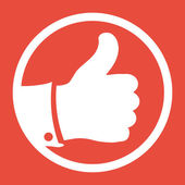 Like and unlike symbols icon — 图库照片