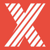Litera x ikona — Zdjęcie stockowe
