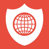 Shield Icon design — Stock Photo