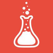 Laboratuvar cam simgesi — Stok fotoğraf