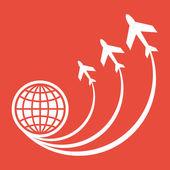 Travel icon — Stock Photo