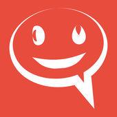 Speech bubble icon — Foto de Stock