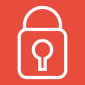 Padlock Icon design — Stock Photo