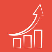 Graph-grafiek pictogram — Stockfoto