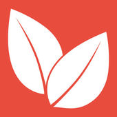Leaf icon Flat design style — Stock Photo