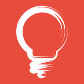 Light bulb icon — Stock Photo