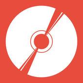 CD or DVD icon — Stock Photo