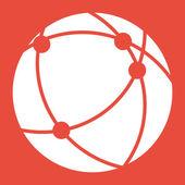 Küresel teknoloji ya da sosyal ağ simgesini — Stok fotoğraf