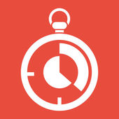 Stopwatch icon design — ストック写真