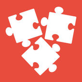Puzzles piece icon — Stock Photo