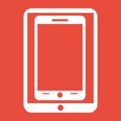 Mobile smartphone icon — Stock Photo