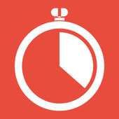 Stopwatch icon design — Stok fotoğraf