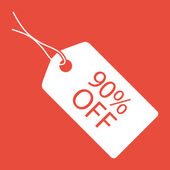 Sale tag icon — Stock Photo