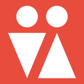 Male and female symbols icon — Stock Photo