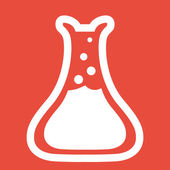 Laboratory glass icon — Stock Photo