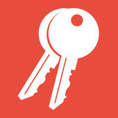 Keys icon — Stock Photo