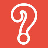 Question mark sign icon — Stock Photo