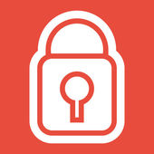 Lock icon design — Stock Photo
