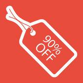 Sale tag icon — Stock Photo