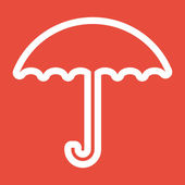 Umbrella icon design — Stock Photo