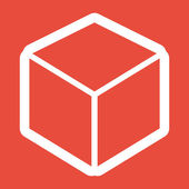 3d cube logo design icon — Stock Photo