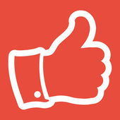 Thumb up, like icon — Stock Photo
