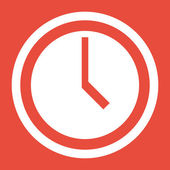Clock icon design — Stock Photo