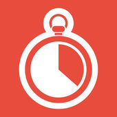 Stopwatch icon design — Stock Photo