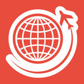 Plane icon design — Stock Photo