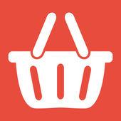 Zakupy koszyka ikonę — Zdjęcie stockowe