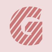 Zebra alphabet letter G — Stock Photo