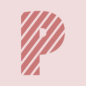 Alphabet letter Icon — Stock Photo