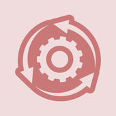 Setting parameters, circular arrows icon — Stock Photo