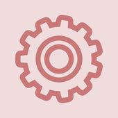 Gear icon with place for your text — Stock Photo