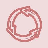 Arrow circle icon — Stock Photo