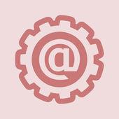 Flat Mail icon — Stock Photo