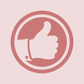 Thumb up icon — Stock Photo