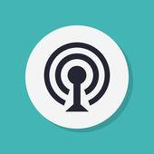 Wireless Network Symbol of wifi icon — Stock Photo