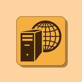 Computer server icon — Stock Photo