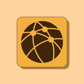 Global technology or social network icon — Stock Photo