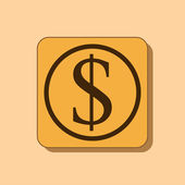 Dollar sign icon — Stock Photo