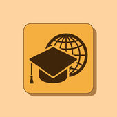 Graduation cap icon — Stock Photo