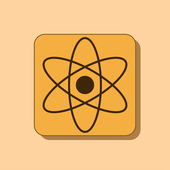 Atom icon design — Stock Photo