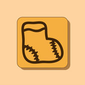 Sock icon, flat design — Stock Photo