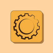 Gear or settings web icon — Stock Photo
