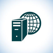 Computer server icon — Stock Photo
