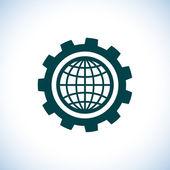 Globe icon. Flat design style — Stock Photo